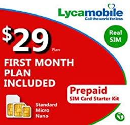 Lycamobile Mobile $29 Plan First Month Nothing Else To Buy Free Tri Cut Sim Prepaid Works On T-Mobile Network 55+ International Countries To Call Free