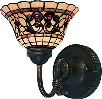 Landmark 361-VA Tiffany Buckingham 1-Light Sconce, 9-Inch, Vintage