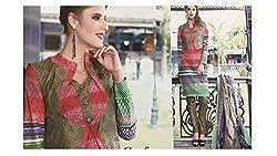 Elegant Attyres Women's Cotton Unstitched Dress Material (Elegant Attyres_5_Cream_Free Size)