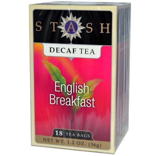 Decaffeinated Tea-English Breakfast Stash Tea 18 Bag