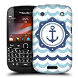 Head Case Blue Anchor Seafarer Back Case Cover For Blackberry Bold Touch 9900