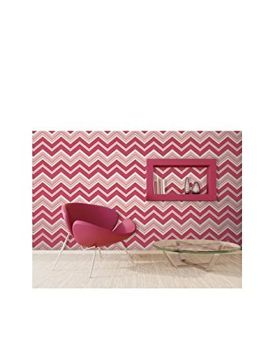 Brewster Bearden Zig Zag Strippable Wallpaper, Pink
