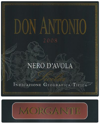 2008 Morgante Don Antonio Nero D'Avola, Sicily 750 Ml