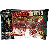 Bloody Bites Oozing Candy Blood Bags with Glow in the Dark Fangs Watermellon Flavor - 1 Bag of 8 Packs