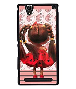 PrintVisa Metal Printed Girly Designer Back Case Cover for Sony Xperia T2 Ultra/ Ultra Dual-D4879