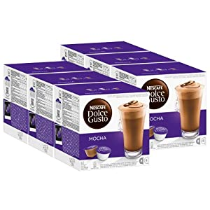 Find Nescafé Dolce Gusto Mocha, Pack of 6, 6 x 16 Capsules (48 Servings) from Nestlé