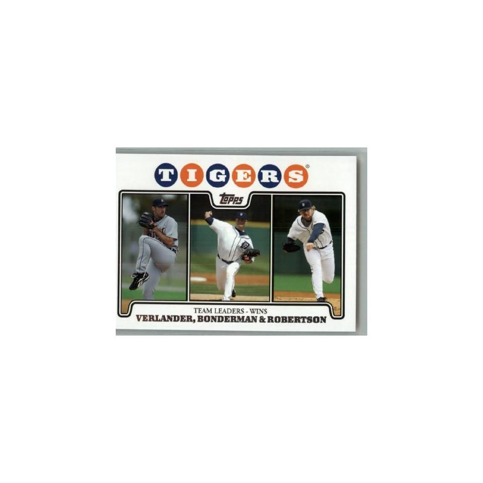 Bonderman / Nate Robertson / Team Leaders   Wins / MLB Trading Card