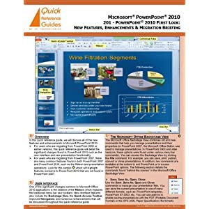 Microsoft Power Point Trial on Microsoft   Powerpoint   2010 Quick Reference Guide  201   Powerpoint