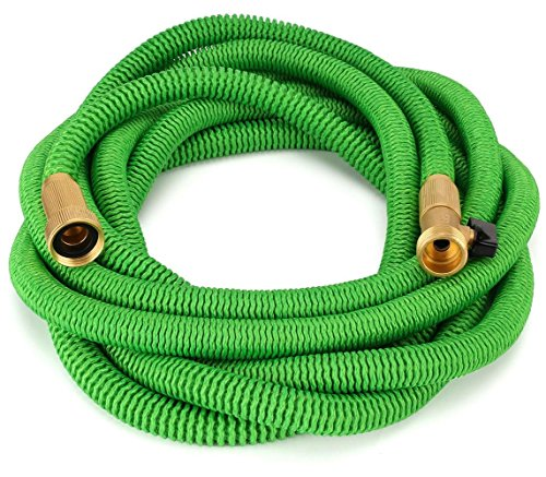 Waterree-Tm-Expandable-Garden-Hose-NEW-2016-Super-Strong-Construction-Strong-Webbing-Solid-Brass-End-9-Function-Spray-Nozzle-and-Shut-off-Valve-Green
