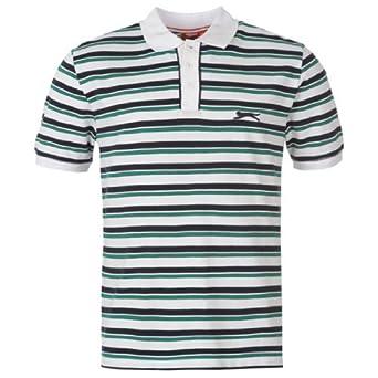 Slazenger YD Stripe Polo Shirt Mens White Small