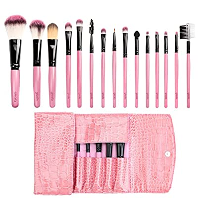 Best Cheap Deal for Gisala 15pcs Makeup Brush Set Foundation Mascara Lip Eyeshadow Eyebrow Brushes Kit with Leather Bag from gisala - Free 2 Day Shipping Available