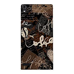 Premium Coffee Coffee Multicolor Back Case Cover for Ascend P6