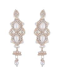 Bel-en-teno White Alloy Earring Set For Women - B00PY9XW2K