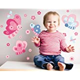 Forwalls Butterflies & Friends Removable Wall Decal Stickers