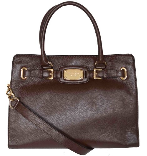 Michael Kors Mocha Leather Hamilton Large EW Tote Handbag Shoulder Bag