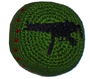 Buy Uzzi Machine-Gun Hacky Sack Footbag - Embroidered - Made in Guatemala - Comes with Tips & Game... by Adventure Trading
