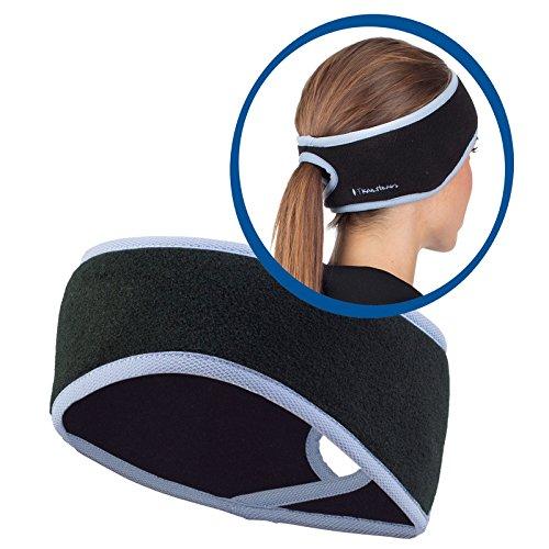 TrailHeads Women's Ponytail Headband - black / true blue (Warm Weather Running Gear compare prices)