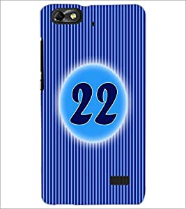 PrintDhaba Numerology Number 22 D-2580 Back Case Cover for HUAWEI HONOR 4C (Multi-Coloured)