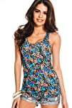 Young Aloud FLORAL CRISS-CROSS BACK T…