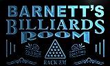 Pj1275-b Barnett's Billiards Room Rack 'em Bar Beer Neon Light Sign