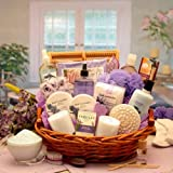 Lavender Bath Body Spa Basket for Women - Mothers Day Gift Idea for Her