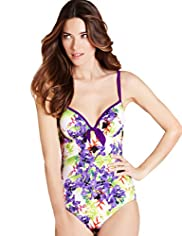 Floral Print Adjustable Straps Underwired Swimsuit