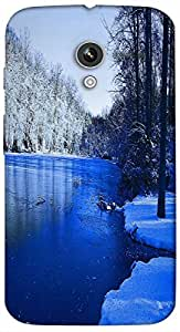 Timpax Light Weight Hard Back Case Cover Printed Design : A beautiful stream.For Motorola Moto-X ( 1st Gen )