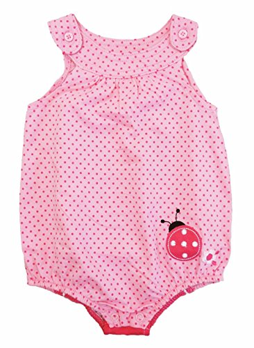 First Impressions Baby Girls Pink Polka Dot Ladybug Sunsuit Romper