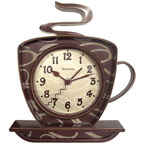 Westclox 32038 Coffee Time 3-D Wall Clock