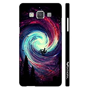 Samsung Galaxy A7 Riding in the Sky designer mobile hard shell case by Enthopia