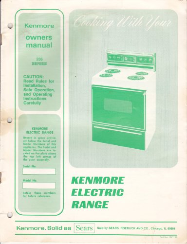 Sears Kenmore Electric Range