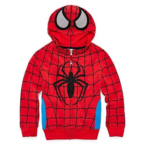 Marvel Little Boys' Spiderman Costume Hoodie XL(7)