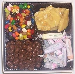 Scott\'s Cakes Large 4-Pack Salt Water Taffy, Chocolate Raisins, Assorted Jelly Beans, & Peanut Brittle