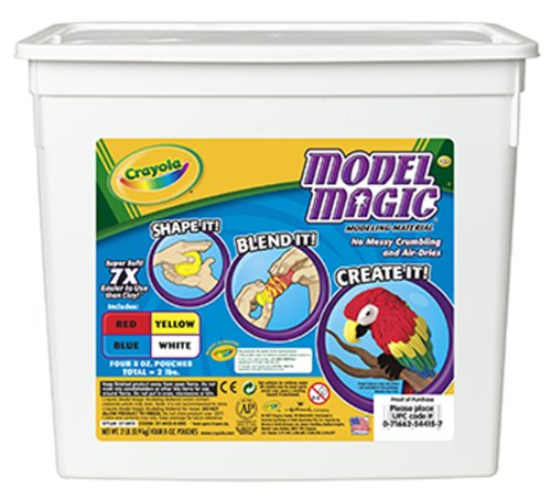 Crayola Model Magic Compound, Resealable Bucket, Assorted Colors; no. BIN4415