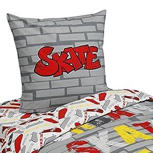 Skate parure de couette en coton pour lit 1 place - Parure de lit alinea ...