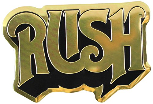 C&D Visionary RUSH Logo Metal Sticker, Gold, 8cm - 1