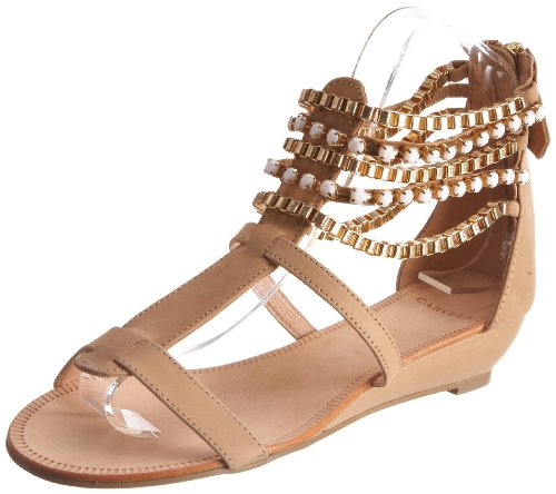 Carvela Women's Krinkle Beige Ankle Strap 1927040109 7 UK