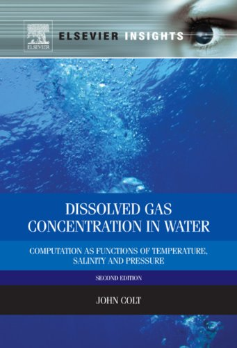 Dissolved Gas Concentration In Water: Computation As Functions Of Temperature, Salinity And Pressure