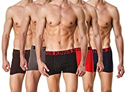 HAP Kings Modern Boxer Trunk / Drawer / Boxer Brief /Square cut trunk Multicolor Pack (combo of 5)
