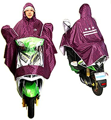 FakeFace Progressive Polka-dotted Universal Mobility Scooter Cover Scooter Rain Cape Full Protection with Visor, Safe Clear Panel
