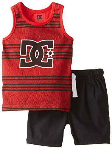 DC Shoes Co Baby Boys' Tank Top with Shorts Red