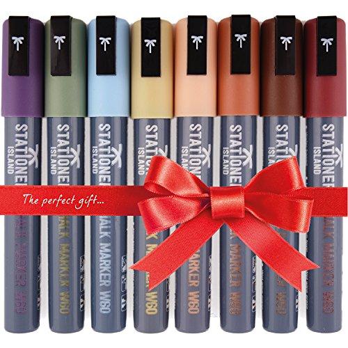 pennarelli-stationery-island-e68-8-pennarelli-a-gesso-liquido-colori-assortiti-punta-a-scalpello-6mm