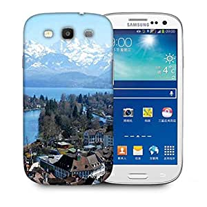 Snoogg White Mounatins Printed Protective Phone Back Case Cover For Samsung S3 / S III