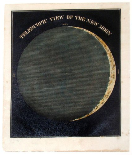 Telescopic View of the New Moon, 1855 by Asa Smith