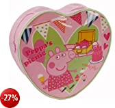Trade Mark Collections Peppa Pig Picnic Heart Shaped Back Pack (Pink)
