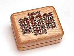 Single Deck Card Box - Petroglyph Triptych