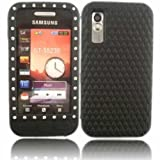 Diamante Silicone Shell Case Cover For Samsung Tocco Lite S5230 / Black
