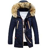 SemiAugust(セミオーガスト)メンズ 冬 アウトウェアジャケット 防寒 棉服 トップス カジュアル 冬服 厚地コート  男性用 カラーはブラック サイズは3XL