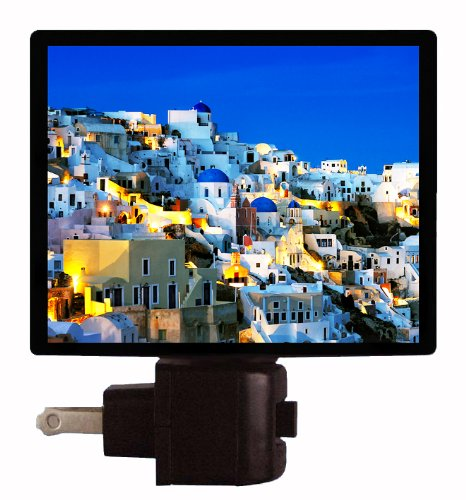 Greece Night Light - Santorini - Thira Led Night Light