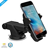 #6: ZAAP Quick One Premium Car Mount holder for Smart phones with 360° Multi angle adjustable Height, Length & View Universally Compatible 3-in-1 Application-Perfect for Car Windsheild, Car Dashboard & Working Desks.Mobile holder (Black)